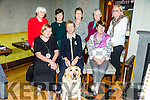 Presentation Secondary School, Tralee, reunion class of 1966 at Meadowlands Hotel on Saturday. Pictured front l-r Maureen Barrett, Ann Kelliher, Rory the Dog,  Joan Barry, Back l-r Joan Barrett, Aine Delaney, Mary O'Sullivan, Oonagh MacNamara, Mary O'Connor