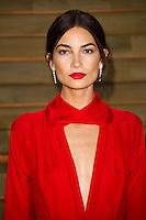 Lily Aldridge arriving for the 2014 Vanity Fair Oscars Party, Los Angeles. 02/03/2014 Picture by: James McCauley/Featureflash