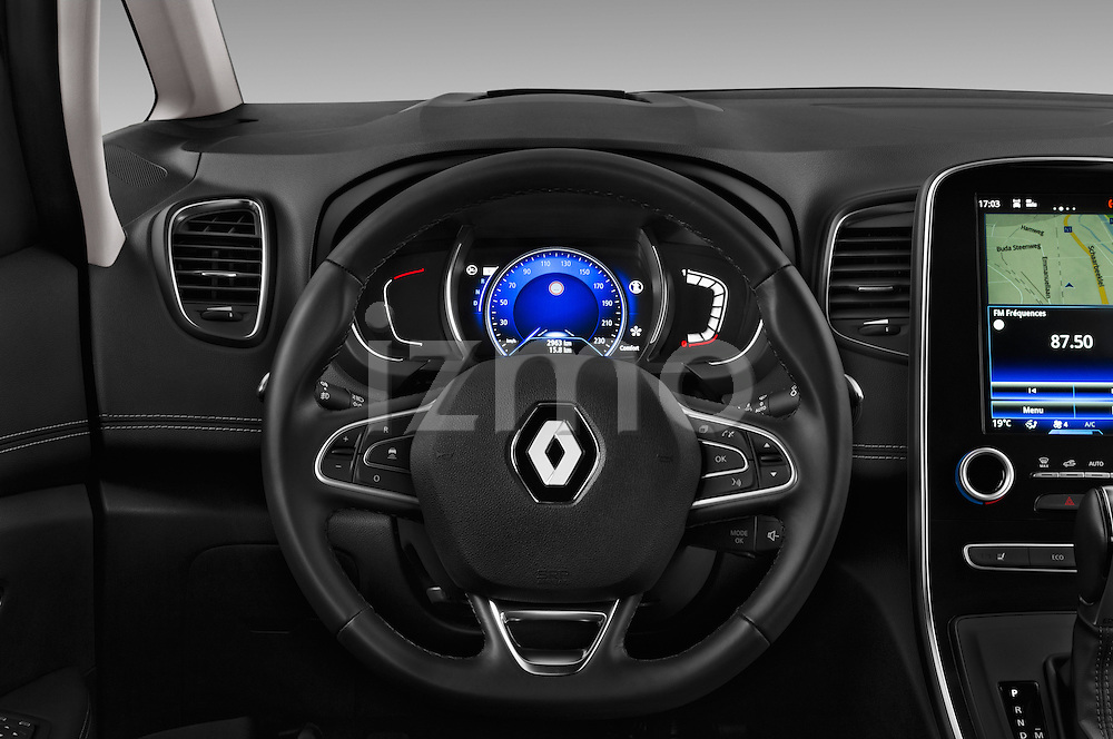 Car pictures of steering wheel view of a 2017 Renault Grand-Scenic Bose-Edition 5 Door Minivan Steering Wheel