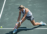 Sabine Lisicki (GER)  defeats Vania King (USA) 7-5, 4-6, 6-3 at the Family Circle Cup in Charleston, South Carolina on April 2, 2014.