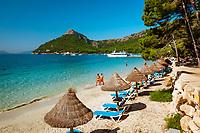 Spanien, Mallorca, bei Port de Pollenca (Puerto Pollensa): Platja (Playa) Formentor | Spain, Mallorca, near Port de Pollenca: Platja (Playa) Formentor