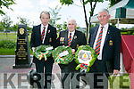 l-r  Francis O'Connor,  Timex Sweeney and  Liam Nolan from the Royal Munster Fusiliers Committee at the Royal Munster Fusiliers World War I remembrance monument Unveiling in Ballymullen on Saturday