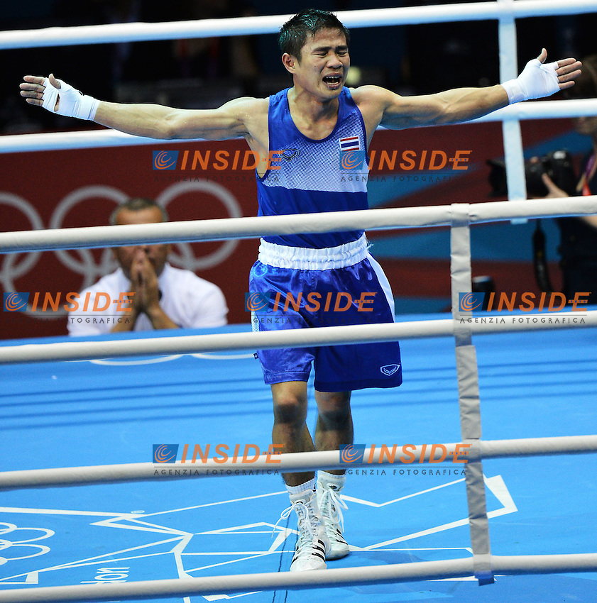 Kaeo Pongprayoon Thailandia Silver Medal.Boxe Men's Light Fly 46-49Kg.London 11/8/2012 ExCel South Arena 2.London 2012 Olympic games - Olimpiadi Londra 2012.Foto Andrea Staccioli Insidefoto
