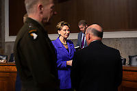 Secretary of the Air Force Barbara Barrett and Chief of Naval Operations Admiral Michael Gilday arrive to testify before the United States Senate Committee on Armed Services at the U.S. Capitol in Washington D.C., U.S., on Tuesday, December 3, 2019.  The panel discussed reports of substandard housing conditions for U.S. service members. <br /> <br /> Credit: Stefani Reynolds / CNP /MediaPunch