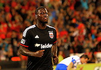 WASHINGTON, D.C - May 17 2014:Eddie Johnson after scoring his first goal during D.C. United vs the Montreal Impact MLS match at RFK Stadium, in Washington D.C. The game ended in a 1-1 tie.