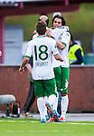 S&ouml;dert&auml;lje 2014-05-18 Fotboll Superettan Syrianska FC - Hammarby IF :  <br /> Hammarbys Lars Mendonca Fuhre har gjort 1-1 och jublar med Hammarbys Kennedy Bakircioglu och Hammarbys Nicklas Lindqvist <br /> (Foto: Kenta J&ouml;nsson) Nyckelord:  Syrianska SFC S&ouml;dert&auml;lje Fotbollsarena Hammarby HIF Bajen jubel gl&auml;dje lycka glad happy