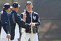 Hideki Matsui (Yankees),<br /> FEBRUARY 20, 2014 - MLB :<br /> New York Yankees' guest instructor Hideki Matsui during the New York Yankees spring training camp at George M. Steinbrenner Field in Tampa, Florida, United States. (Photo by Thomas Anderson/AFLO) (JAPANESE NEWSPAPER OUT)