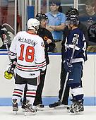 Mike McLaughlin (Northeastern - 18), Scott Hansen, Murdock MacLellan (StFX - 81) - The visiting St. Francis Xavier University X-Men defeated the Northeastern University Huskies 8-5 on Sunday, October 2, 2011, at Matthews Arena in Boston, Massachusetts.