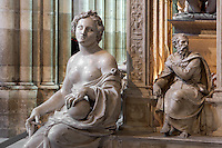 Virtue, apostle, Funerary monument of Louis XII (1462 - 1515) and Anne of Brittany (1477 - 1514), 1516 - 1531, Marble of Carrara, by Giovani di Giusto Betti, Abbey church of Saint Denis, Seine Saint Denis, France. Picture by Manuel Cohen
