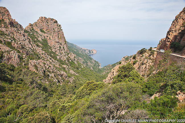 The west cast of Corsica near Porto is a rugged and beautiful wilderness.