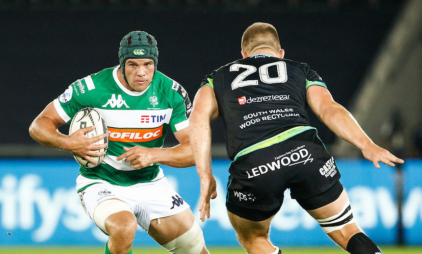 Filo Paulo of Benetton Treviso<br /> <br /> Photographer Simon King/CameraSport<br /> <br /> Guinness PRO12 Round 3 - Ospreys v Benetton Rugby Treviso - Saturday 17 September 2016 - Liberty Stadium - Swansea<br /> <br /> World Copyright &copy; 2016 CameraSport. All rights reserved. 43 Linden Ave. Countesthorpe. Leicester. England. LE8 5PG - Tel: +44 (0) 116 277 4147 - admin@camerasport.com - www.camerasport.com