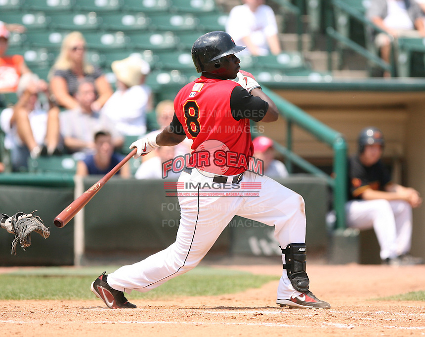 2007:  Tommy Watkins of the Rochester Red Wings, Class-AAA affiliate of the Minnesota Twins, during the International League baseball season.  Photo By Mike Janes/Four Seam Images