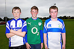 Pictured at the Tralee Rugby Club fun day on Saturday were Cillian Keating, Mark O'Connor, Bernard Fitzmaurice