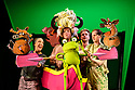 """Kenny Wax Family Entertainment presents """"Oi Frog & Friends!"""" at the Lyric Theatre, Shaftesbury Avenue, from 29th November 2019 to 5th January 2020. Based on the books by Kes Gray & Jim Field, it is created for the stage by director, Emma Earle and desinger Zoe Squire (co-artistic directors of Pins and Needles Productions), with puppet design by Yvonne Stone and lighting design by Ric Mountjoy. The cast is: John Winchester (Frog), Lucy Tuck (Cat), Darren Seed (Dog) and Simon Yadoo (Gnu)."""