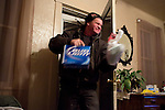Steve McFarland arrives home from work on Friday, December 9, 2011 in Webster City, IA.