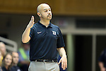 26 October 2014: Duke assistant coach Hernando Planells. The Duke University Blue Devils held their annual Blue-White Game at Cameron Indoor Stadium in Durham, North Carolina in preparation of the upcoming 2014-15 NCAA Division I Women's Basketball season.