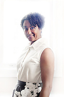 Philadelphia, PA, April 21, 2015 - A portrait of Lisa Nutter, President of Philadelphia Academies Inc. and the wife of Mayor Nutter, in her offices at PAI.