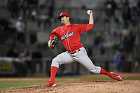 Pitcher Zach Morris (37) of the Lakewood BlueClaws delivers a pitch in a game against the Columbia Fireflies on Friday, May 5, 2017, at Spirit Communications Park in Columbia, South Carolina. Lakewood won, 12-2. (Tom Priddy/Four Seam Images)