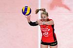 25.08.2018, …VB Arena, Bremen<br />Volleyball, LŠnderspiel / Laenderspiel, Deutschland vs. Niederlande<br /><br />Zuspiel Pia KŠstner / Kaestner (#2 GER)<br /><br />  Foto &copy; nordphoto / Kurth