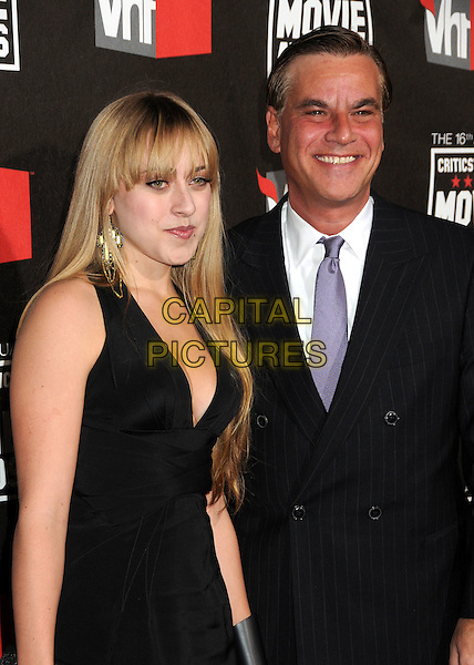 GUEST & AARON SORKIN.at The16th Annual Critics' Choice Movie Awards held at The Hollywood Palladium in Hollywood, California, USA, January 14th, 2011..half length dress black suit tie purple white shirt  .CAP/ADM/BP.©Byron Purvis/AdMedia/Capital Pictures.