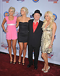 """HOLLYWOOD, CA. - October 13: Hugh Hefner and The """"new"""" Girls Next Door Karissa Shannon, Kristina Shannon and Crystal Harris arrive at the 2009 Fox Reality Channel Really Awards at the Music Box at the Fonda Theatre on October 13, 2009 in Hollywood, California."""