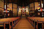Interior of St. John's Church, city of Bergen, Norway completed 1894