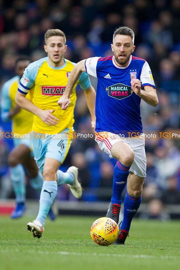 Cole Skuse of Ipswich Town brings the ball forward during Ipswich Town vs Rotherham United, Sky Bet EFL Championship Football at Portman Road on 12th January 2019