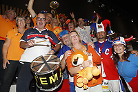 The Hague, The Netherlands, September 17, 2017,  Sportcampus , Davis Cup Netherlands - Chech Republic, Chech and Dutch supporters joining together<br /> Photo: Tennisimages/Henk Koster
