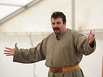 Tenor Eugene Ginnety singing at the official opening of the Annagassan Viking Festival. Photo: Colin Bell/pressphotos.ie