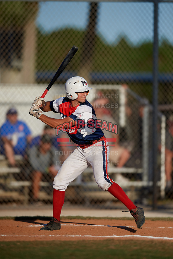 Peyton Chatagnier during the WWBA World Championship at the Roger Dean Complex on October 20, 2018 in Jupiter, Florida.  Peyton Chatagnier is shortstop from Cypress, Texas who attends Cy-Fair High School and is committed to Mississippi.  (Mike Janes/Four Seam Images)