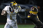 Clarkston rolls past Davison 28-0 in Division 1 district final football action at Davison High School Saturday, Nov. 4, 2017. (For The Oakland Press / LARRY McKEE)