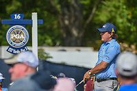 Phil Mickelson (USA) watches his tee shot on 16 during 1st round of the 100th PGA Championship at Bellerive Country Cllub, St. Louis, Missouri. 8/9/2018.<br /> Picture: Golffile | Ken Murray<br /> <br /> All photo usage must carry mandatory copyright credit (© Golffile | Ken Murray)
