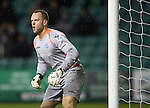 Hibs v St Johnstone....21.12.13    SPFL<br /> Alan Mannus min action<br /> Picture by Graeme Hart.<br /> Copyright Perthshire Picture Agency<br /> Tel: 01738 623350  Mobile: 07990 594431