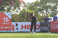 Gavin Green (MAS) in action on the 18th during Round 2 of the Hero Indian Open at the DLF Golf and Country Club on Friday 9th March 2018.<br /> Picture:  Thos Caffrey / www.golffile.ie<br /> <br /> All photo usage must carry mandatory copyright credit (&copy; Golffile | Thos Caffrey)