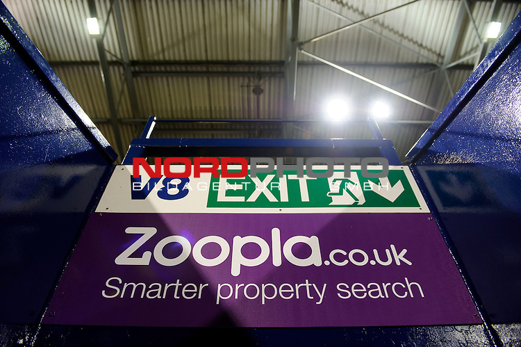 Zoopla branding is displayed inside the ground on the day the sponsor announced they will not be renewing their deal after the 2013/14 season in response to Nicolas Anelka&rsquo;s controversial &ldquo;Quenelle&rdquo; gesture -  - 20/01/2014 - SPORT - FOOTBALL - The Hawthorns Stadium - West Bromwich Albion v Everton - Barclays Premier League.<br /> Foto nph / Meredith<br /> <br /> ***** OUT OF UK *****