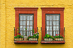 Colorful wall and doors, San Miguel De Allende, a World Heritage Site, Central Mexico