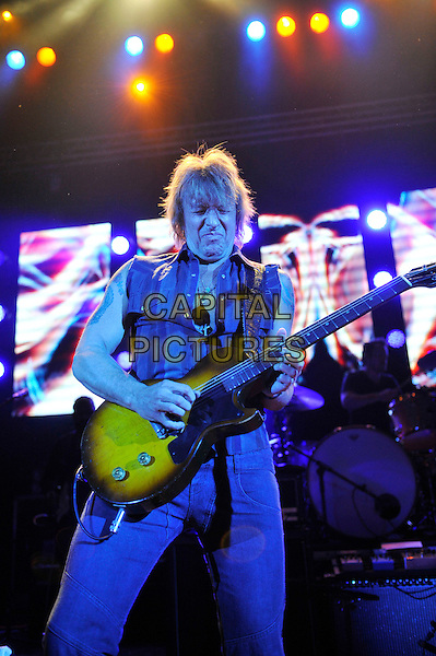 Richie Sambora.Performing live in concert, Shepherd's Bush Empire, London, England. .16th October 2012.on stage in concert gig performance music half length black sleeveless shirt guitar .CAP/MAR.© Martin Harris/Capital Pictures.