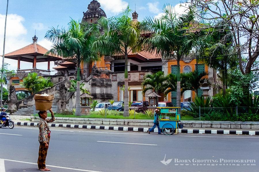 Bali, Gianyar. Administration building in Gianyar city.