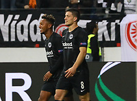 celebrate the goal, Torjubel zum 3:1 von Luka Jovic (Eintracht Frankfurt) - 04.10.2018: Eintracht Frankfurt vs. Lazio Rom, UEFA Europa League 2. Spieltag, Commerzbank Arena, DISCLAIMER: DFL regulations prohibit any use of photographs as image sequences and/or quasi-video.