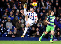 Claudio Yacob of West Bromwich Albion  during the Barclays Premier League match between West Bromwich Albion and Swansea City at The Hawthorns on the 2nd of February 2016