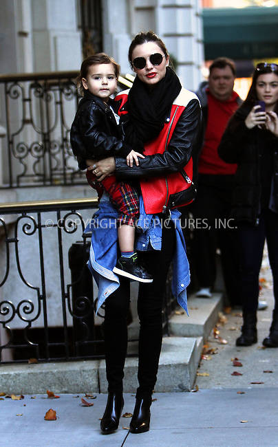 WWW.ACEPIXS.COM<br /> <br /> November 16 2013, New York City<br /> <br /> Model Miranda Kerr leaves her Upper East Side apartment with her son Flynn Bloom on November 16 2013 in New York City<br /> <br /> <br /> By Line: Nancy Rivera/ACE Pictures<br /> <br /> <br /> ACE Pictures, Inc.<br /> tel: 646 769 0430<br /> Email: info@acepixs.com<br /> www.acepixs.com