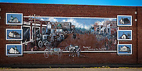 Mural in the town of Davenport Oklahoma on Route 66.