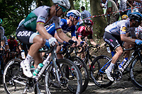 defending Tour-champion Geraint Thomas (GBR/Ineos) up the infamous Muur van Geraardsbergen<br /> <br /> Stage 1: Brussels to Brussels (BEL/192km) 106th Tour de France 2019 (2.UWT)<br /> <br /> ©kramon