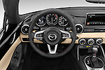 Car pictures of steering wheel view of a 2016 Mazda MX-5 Miata Grand Touring 2 Door Convertible Steering Wheel