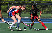 Action during the Secondary School Girls ANZAC hockey Invitational Tournament between Westlake Girls Bethlehem College Hockey at St Cuthbert's College, Remuera,  New Zealand.Wednesday 26 April 2017. Photo:Simon Watts / www.bwmedia.co.nz