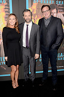 """LOS ANGELES - MAR 14:  Linda Doucett, Judd Apatow, Bob Saget at the """"The Zen Diaries of Garry Shandling"""" Premiere at Avalon on March 14, 2018 in Los Angeles, CA"""