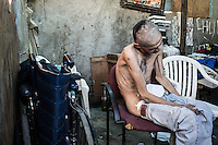 Many of the deported migrants end with drug addiction. Access to cheap drugs, such as crystal meth and heroine, is easy. Many succumb to drug addiction to cope with the loneliness, lack of jobs and the unacceptable conditions their lives have become. Tijuana, Mexico. Jan 07, 2015.