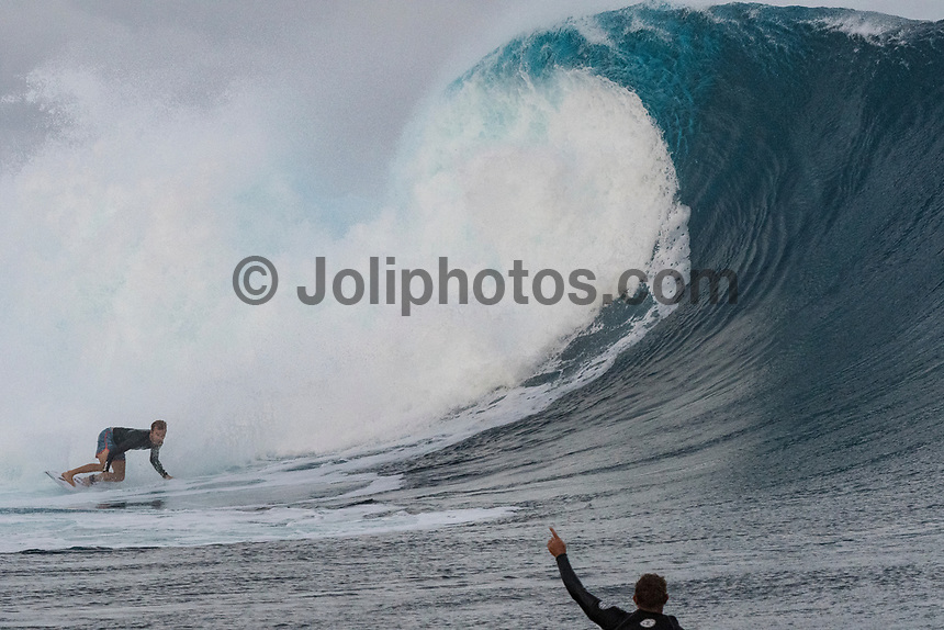 NAMOTU, Fiji (Sunday, June 4, 2017) Adrian Buchan (AUS) -  The world&rsquo;s best surfers have arrived in the South Pacific for Stop No. 5 on the 2017 World Surf League (WSL) Championship Tour (CT), the Outerknown Fiji Pro and they went straight into first day action with Round 1 of the men's called on for an 8am start.  <br /> <br /> The delayed final of the Outerknown Fiji Women&rsquo;s Pro was run prior to the start of the Men's Round 1 with California&rsquo;s Courtney Conlogue (USA) taking the win over Hawaii&rsquo;s Tatiana Weston-Webb (HAW)<br /> <br /> The 2017 World Title the race for the men is closer than ever heading into Fiji with only 300 points separating No. 1 on the Jeep Leaderboard, John John Florence (HAW), from 2015 WSL Champion Adriano de Souza (BRA), and 2017 World Title contenders Jordy Smith (ZAF) and Owen Wright (AUS). <br /> <br /> <br /> Photo: joliphotos.com