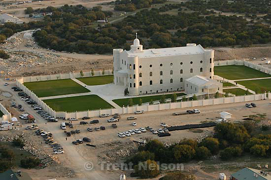 """Eldorado - Aerial views of the FLDS compound YFZ """"Yearning for Zion"""" Ranch, Tuesday, April 8, 2008. Law enforcement continued their search operation (including the FBI). temple"""