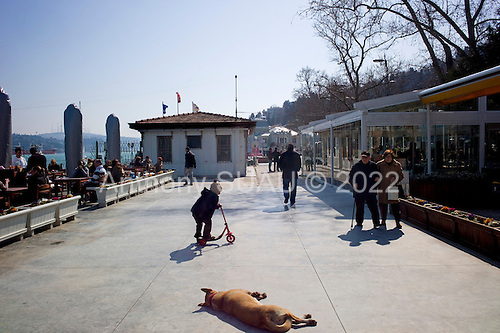 Istanbul, Turkey<br /> March 12, 2011<br /> <br /> The board walk in Bebek, an up scale neighborhood in Istanbul along the Bospharus River.
